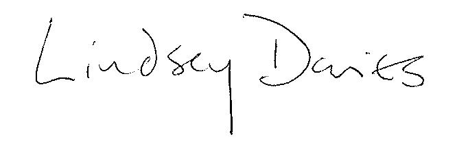Signature of Lindsey Davies